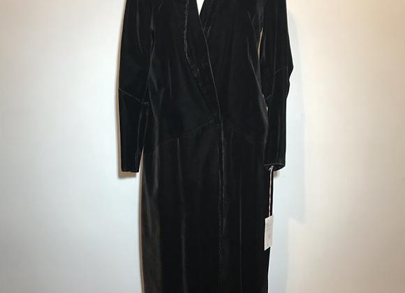 1940-50ss black velvet opera coat