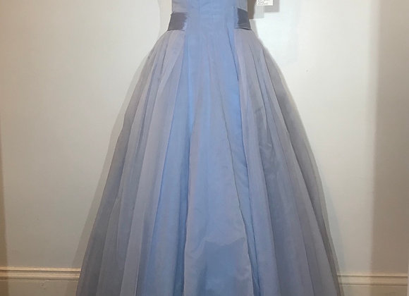 1950s pale blue dress