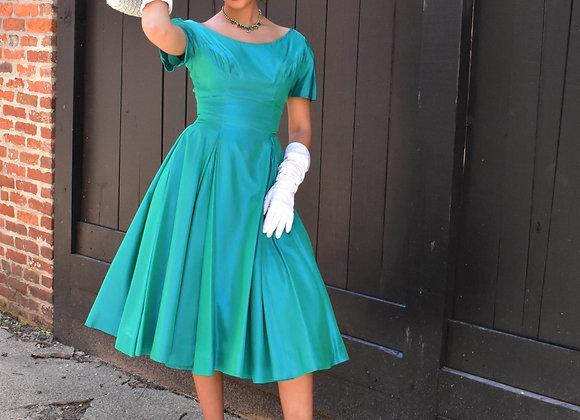 Emma Domb green dress
