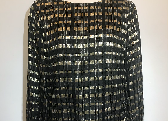 Frankie Welch black/gold blouse