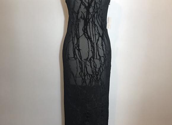 Daniel Hechter Black lace long dress