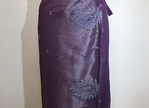 Pale blue/violet wrap skirt
