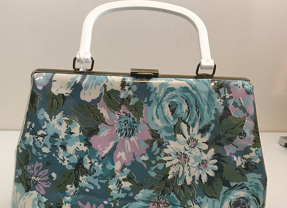 Mutterperie Patent Leather Floral Handbag