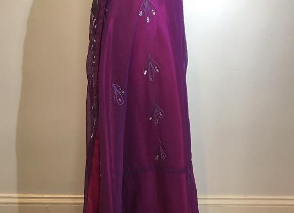 Wedding sari wrap skirt