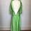 Thumbnail: Bright green silk dress