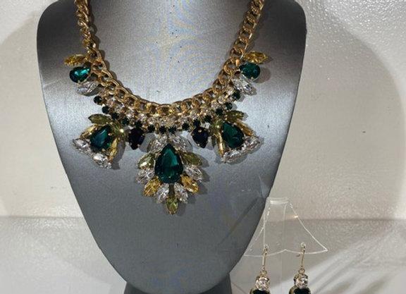 3pc Crystal jewelry set