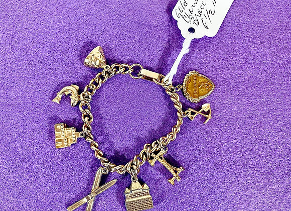 Goldtone Charm Bracelet