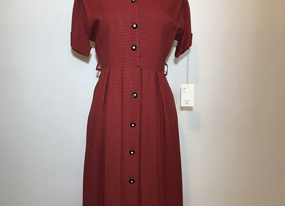 1950s Red/black checkered dress