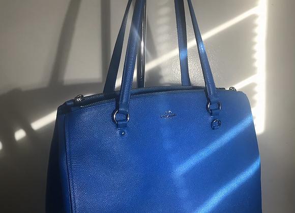 Coach blue leather handbag