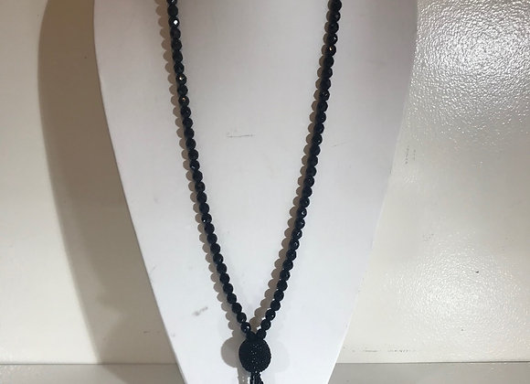 Victorian Black Faceted Necklace