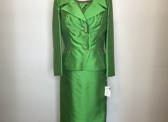 Green silk 2 pc set
