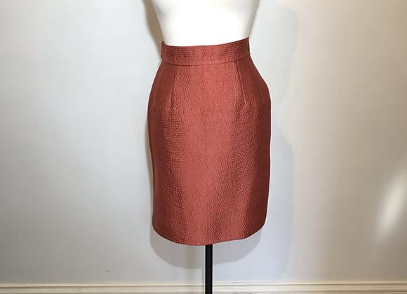 Mary McFadden orange silk skirt