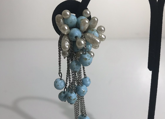 1950s turquoise earrings
