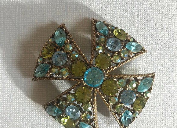 Regency Green & Blue Cross Pin