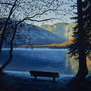Where we once sat (Bohinj Lake, Slovenia)