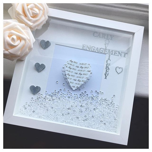 3d heart engagement frame - Engagement Photo Frame