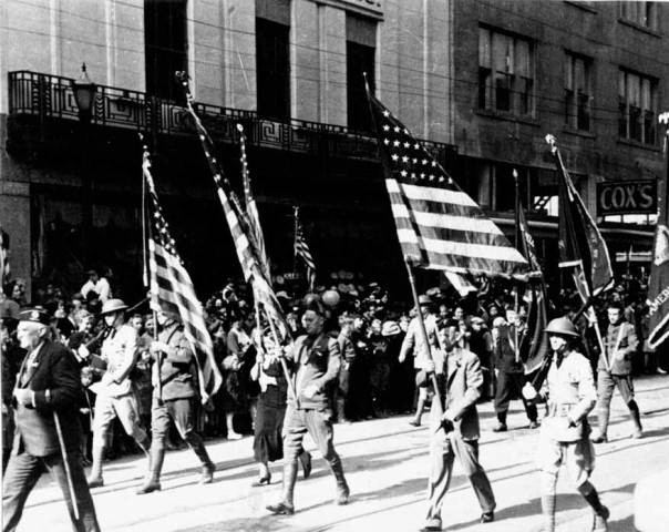 1936 Parade Flag Bearers