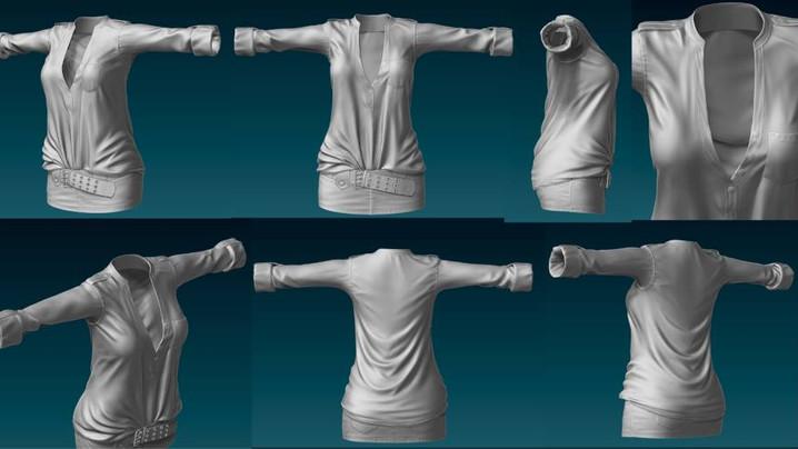 WIP - Denim Skirt w/ Top