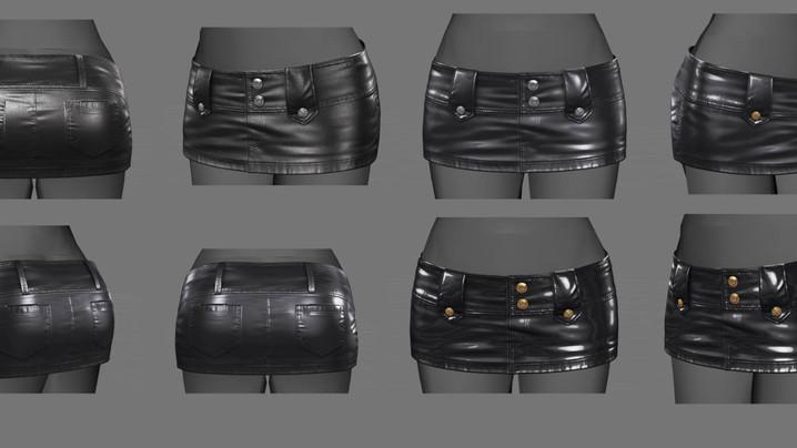 WIP - Leath Skirt 2