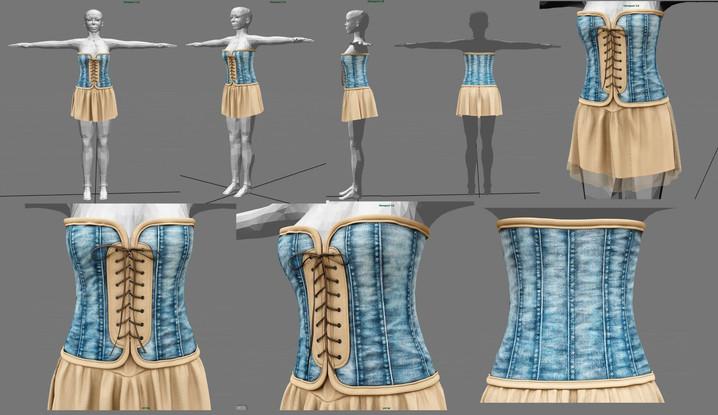 WIP - Corset Skirt