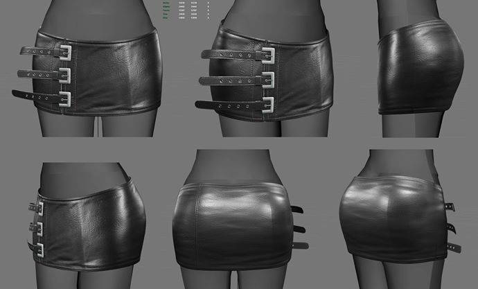 WIP - Leather Skirt
