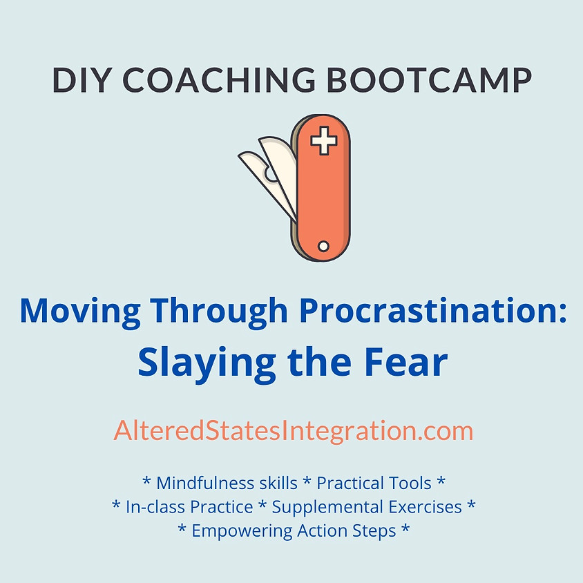 Moving Through Procrastination: Slaying the Fear - DIY Coaching Bootcamp
