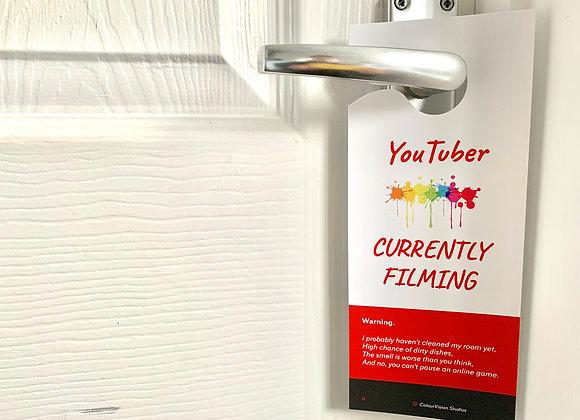 Children's YouTuber Door Hanger