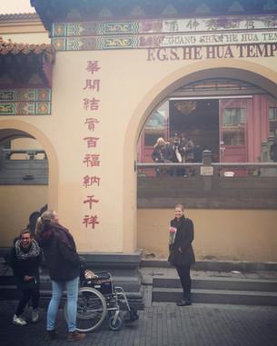 Bloemen voor de Chinese Tempel