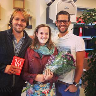 Bloemen voor Arjan, David en de rest van het '365 dagen succesvol' team