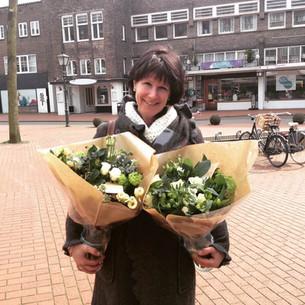 Bloemen voor verjaardagsuitje