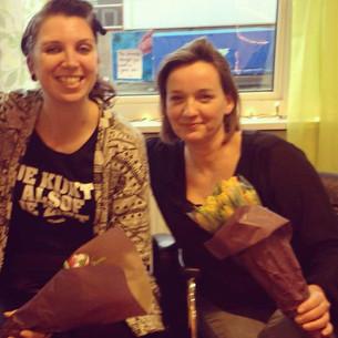 Bloemen voor Patty en Wendy