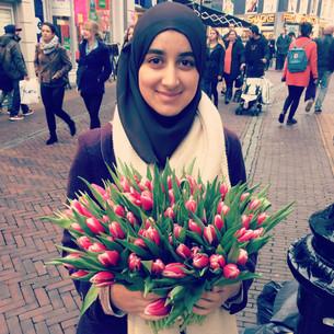 Bloemen voor winkelend Utrecht