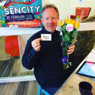 Bloemen voor Peter-Jan en Ineke