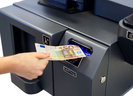 cajon de dinero, billete falso, no gracias