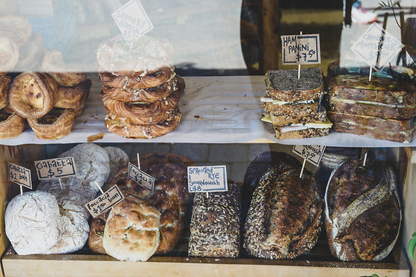 Picture full of different pastries and bread products