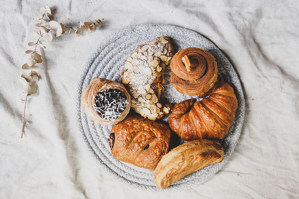 Selection of vegan pastries available for people with dietary restrictions