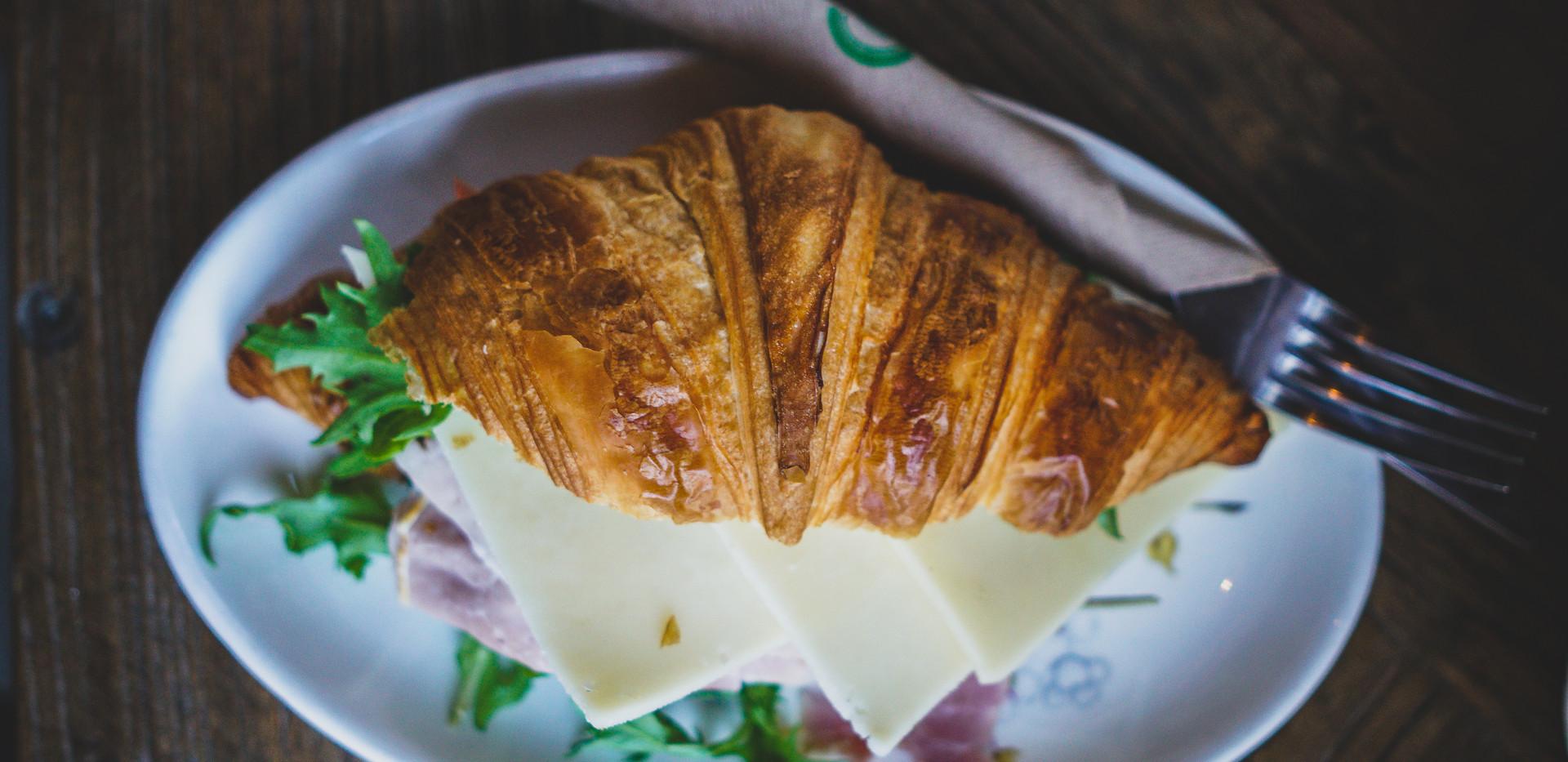 Ham filled croissant