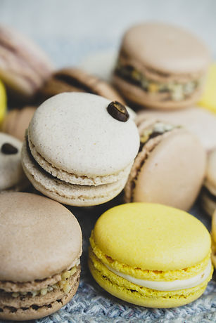 Macarons without using artificial colorings