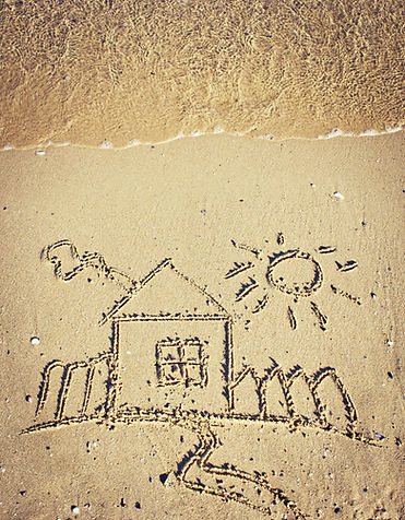Drawing on the beach/Summer holidays bea
