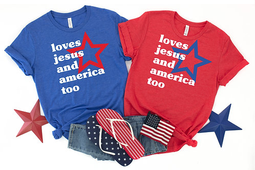 Loves Jesus and America too
