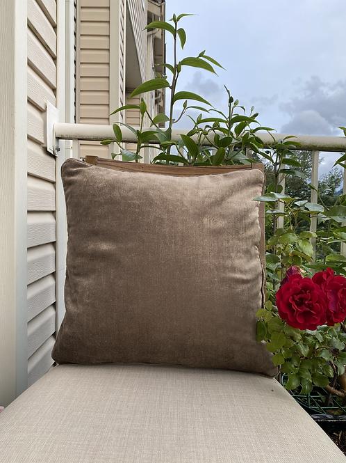 Velvet Decorative Pillowcase(Beige)