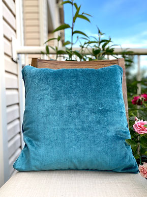 Velvet Decorative Pillow case(Teel Blue)