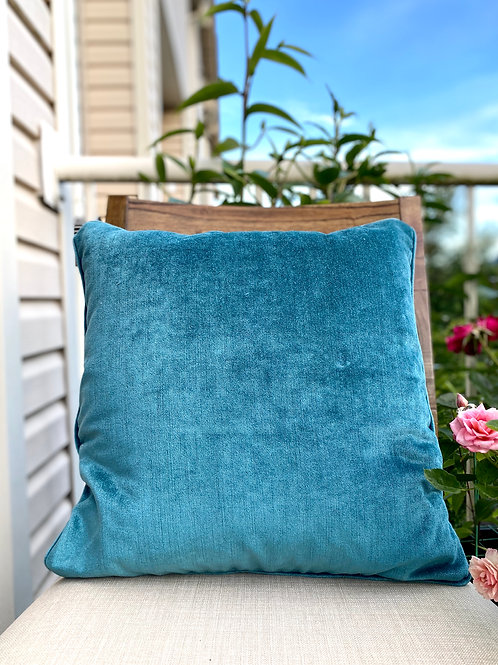 Velvet Decorative Pillow case(Teel Blue)