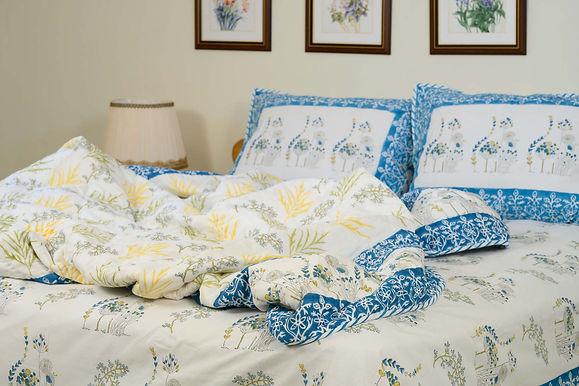 Blue Yellow Poppy Duvet Cover
