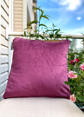 Velvet Decorative Pillowcase  (Mulberry Purple)