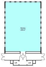 Grondplan van te huren kantoor 249m² in de Metrologielaan in Haren.