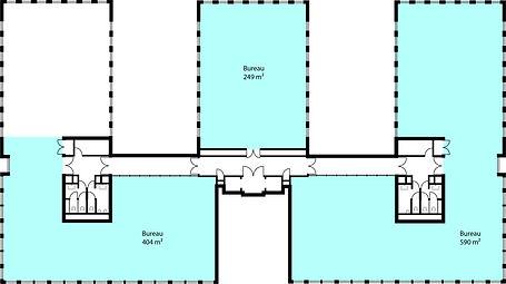 Overzichtsplan kantoorruimte Metrologiel