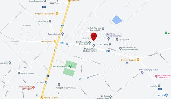 Google maps van Campus Luitenant Coppens in Brasschaat