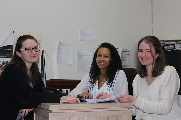 Legal Clinics Coordinator Olga Houde with Student Interns