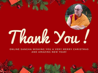 Merry Christmas! Letter from Venerable Namgyel